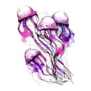 motiv-meduzky-ruzova