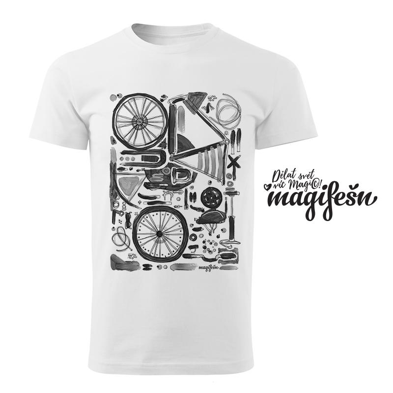 pánské tričko Skládačka (BW) bílé