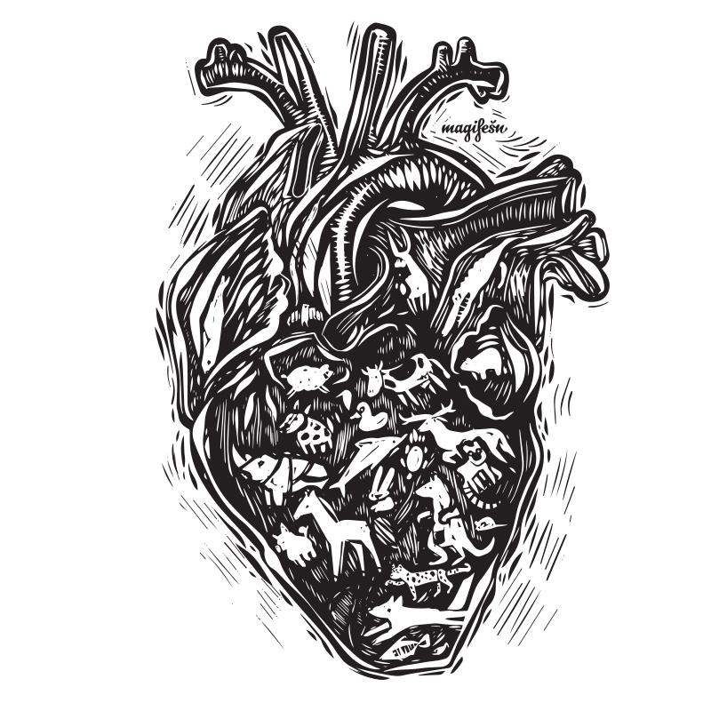 motiv-zvirata-v-srdci-BW