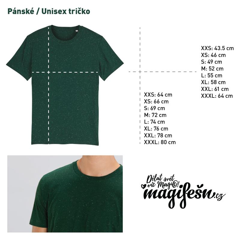 panske-tricko-XY-rozmery